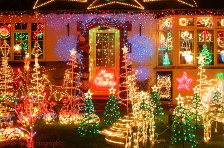 Christmas lights in Merrow