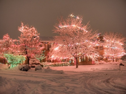 christmas-lights-pink-snow-winter-favim-com-147679